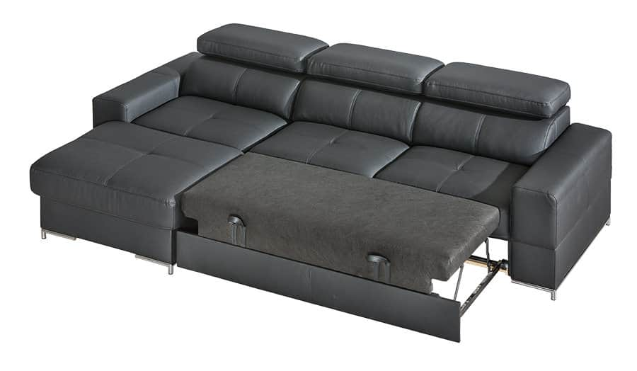 Bastion sofa med chaiselong set med soveudtræk