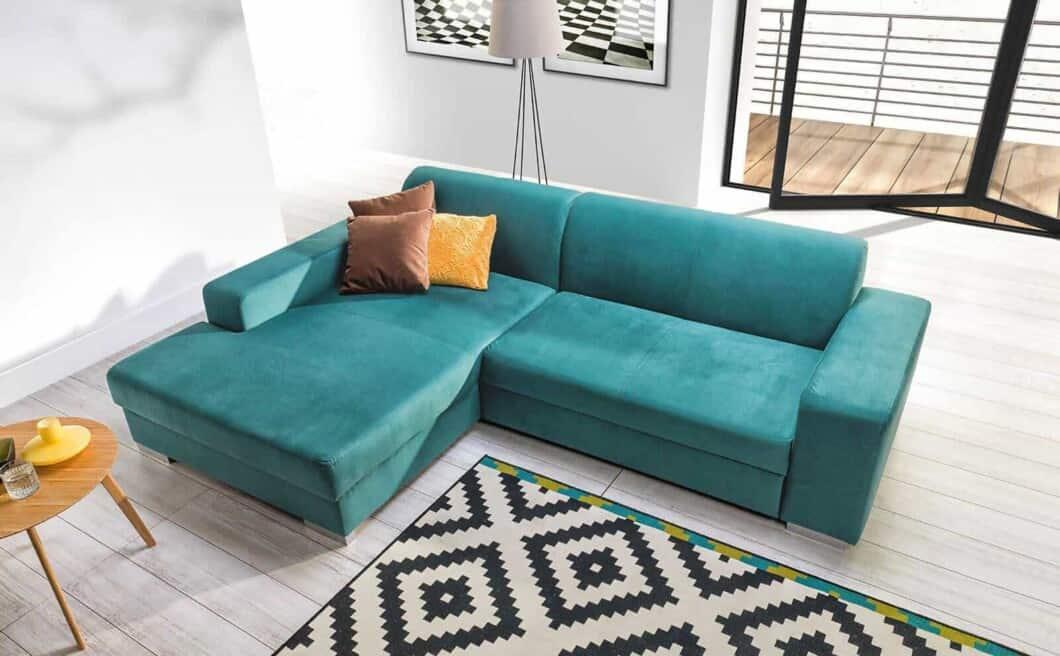 Common chaiselong sovesofa set fra toppen set i værelset
