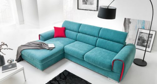 Focus chaiselong sofa set forfra