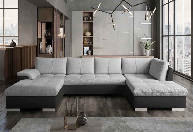 Picture of: Tokio U Sofa Med Udfoldelig Seng Og Opbevaring