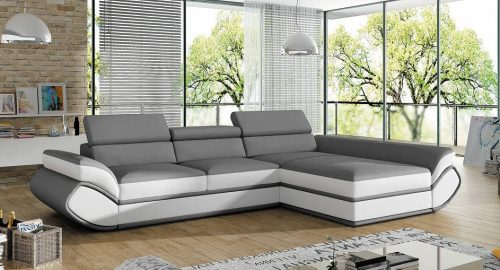 Genesis sofa med chaiselong set forfra