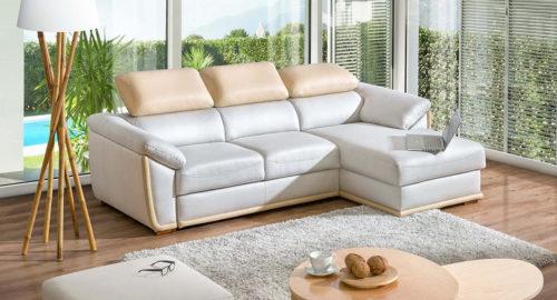 Kathrine sofa med chaiselong set forfra