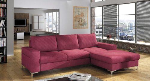 Lens sofa med chaiselong set forfra