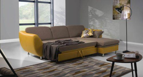 Luna new chaiselong sovesofa med vist indbygget seng