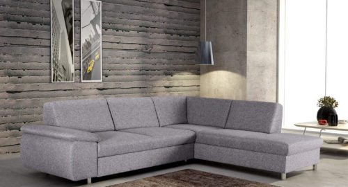 Majestic sovesofa med chaiselong og magasin set forfra