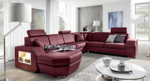 Napoli u-sofa set fra venstre side