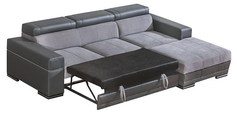 Pandora chaiselong sovesofa set omdannet til seng