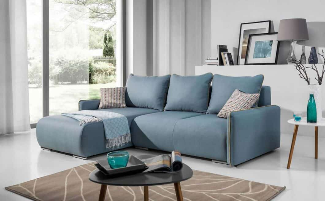 Perugia sovesofa med chaiselong set forfra