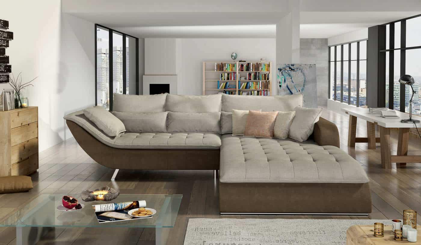 Picture of: Rolo Subtil Sofa Med Chaiselong Det Klassiske Look I Gra Farve