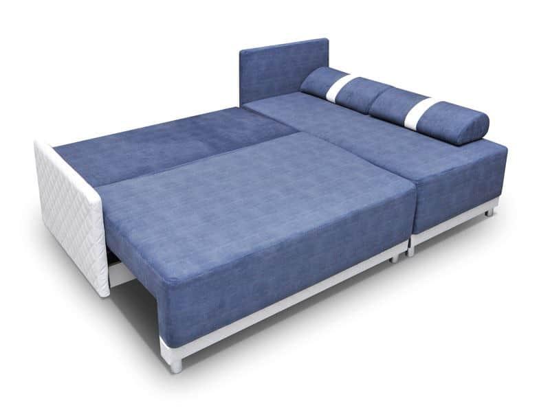 Ronny vendbar sovesofa med chasielong omdannet til seng