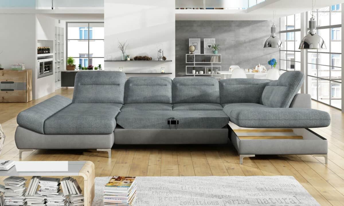 Timola u sofa set med åben opbevaring