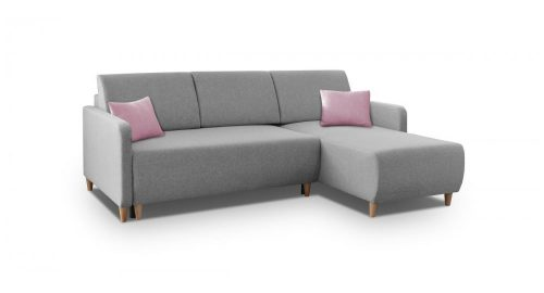 Inspire vendbar sovesofa med chaiselong set forfra