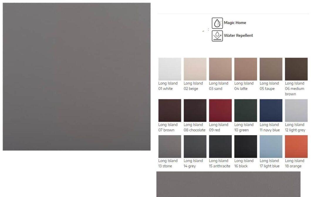 Long Island prøver - katalog med alle farver