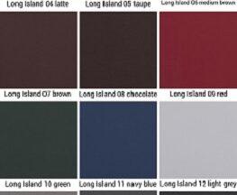 PU-læder katalog med alle farver set forfra