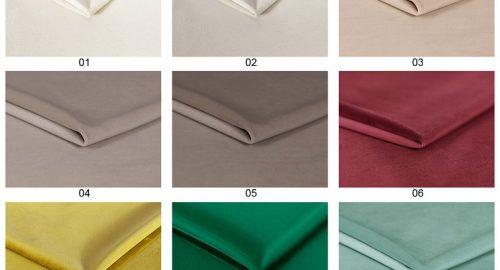 Katalog af farver set forfra