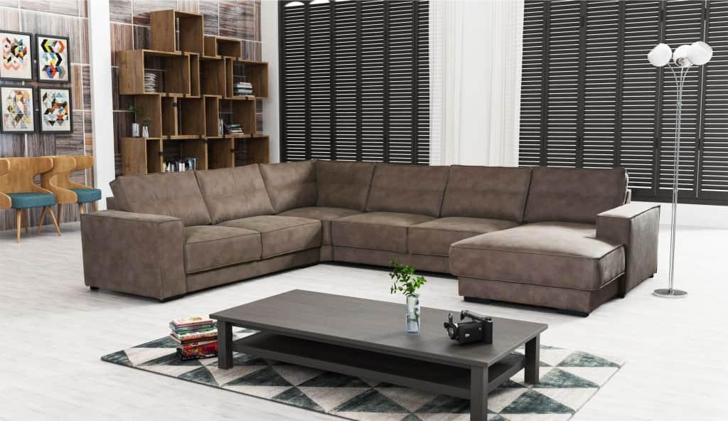 Presley u-sofa set forfra