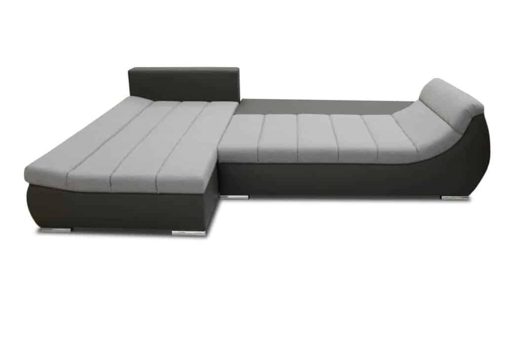 Nets sovesofa med chaisleong med udslået seng