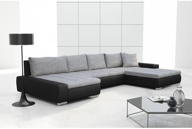 CAYENNE grå/sort u-sofa