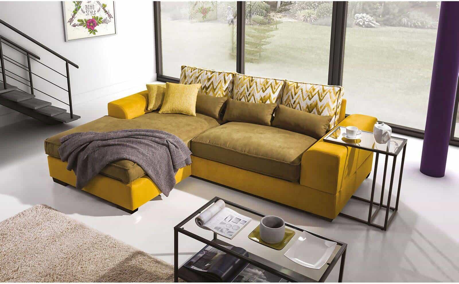 Corsica chaiselong sofa set fra toppen