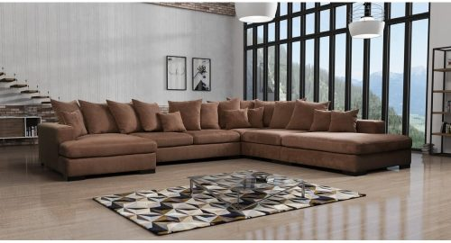 En stor u-sofa Hamilton set forfra