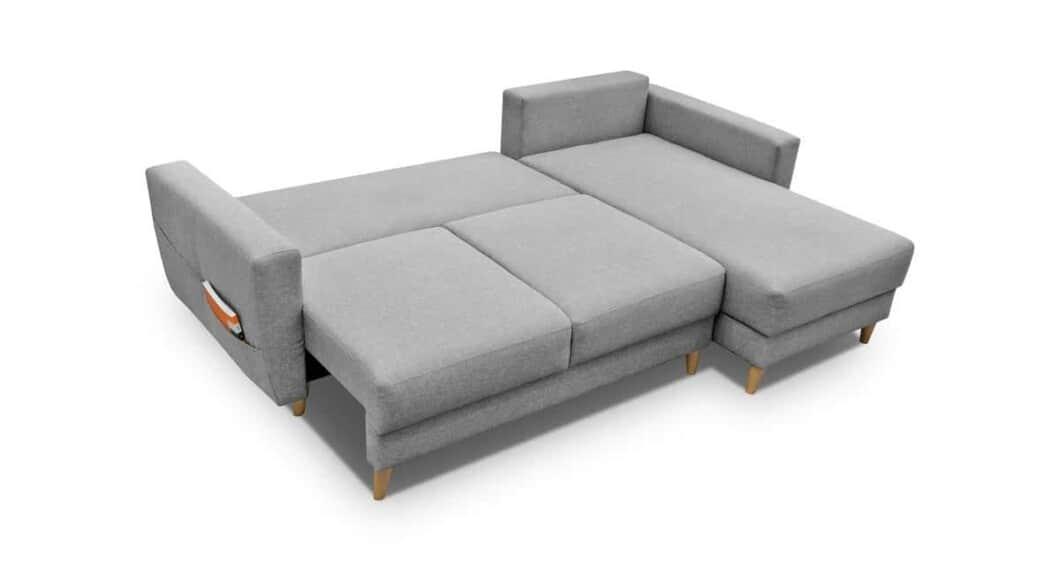 Larvik chaiselong sovesofa udslået til seng