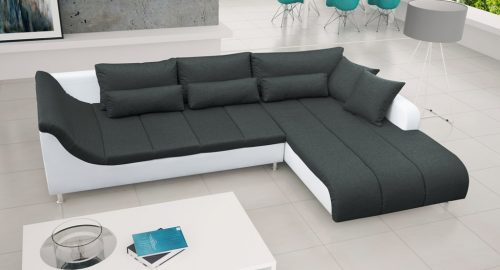 Corey sort chaiselong sofa set forfra