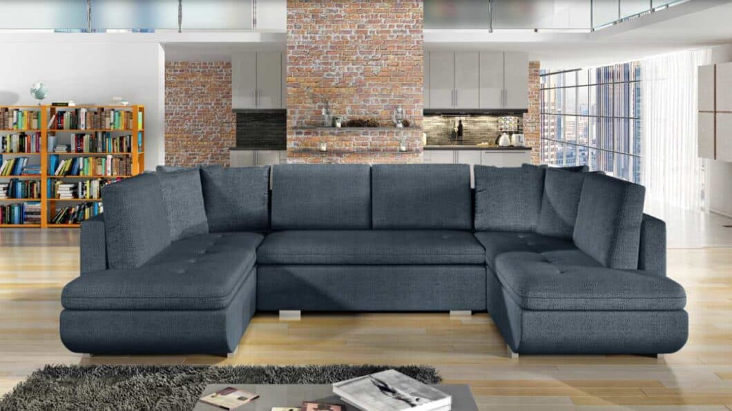 Argentina graphite U-sofa s et forfra