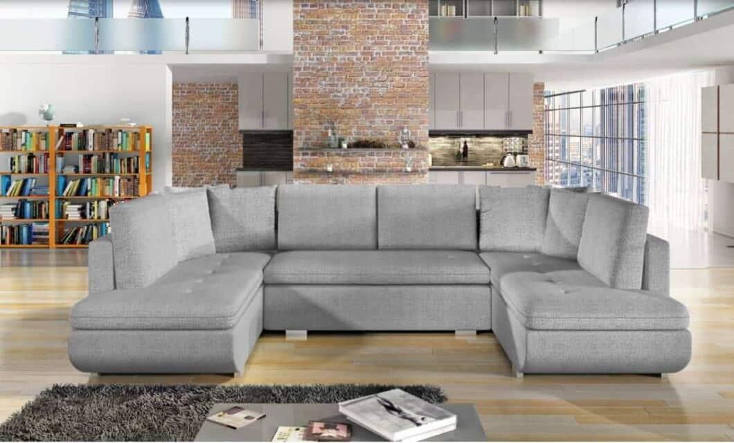 Argentina hvid U-sofa s et forfra
