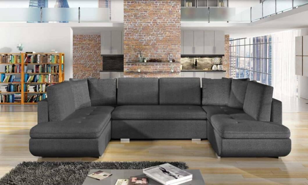Argentina brun U-sofa s et forfra