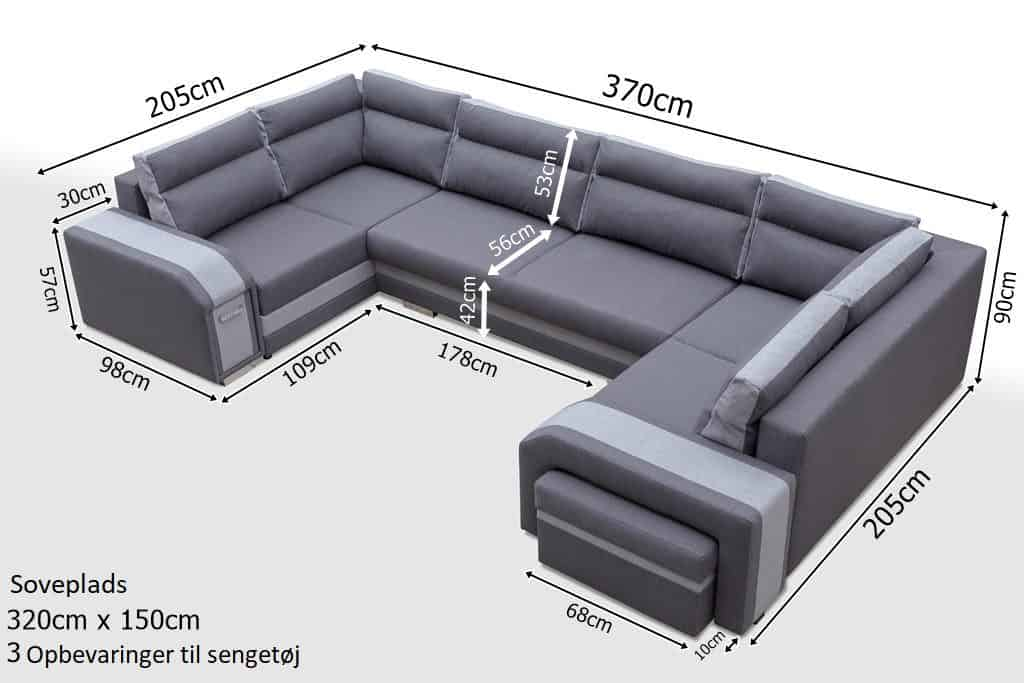 Atlantis U-sofa zoom