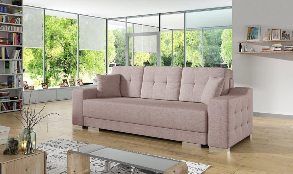 Citro lyserød sovesofa set forfra