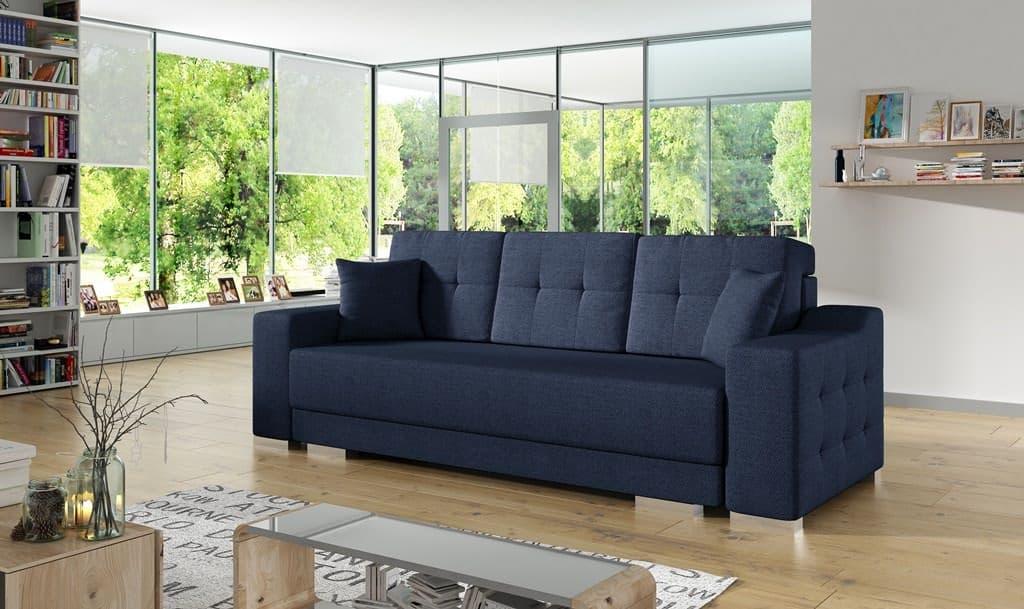 Citro mørkeblå sovesofa set forfra