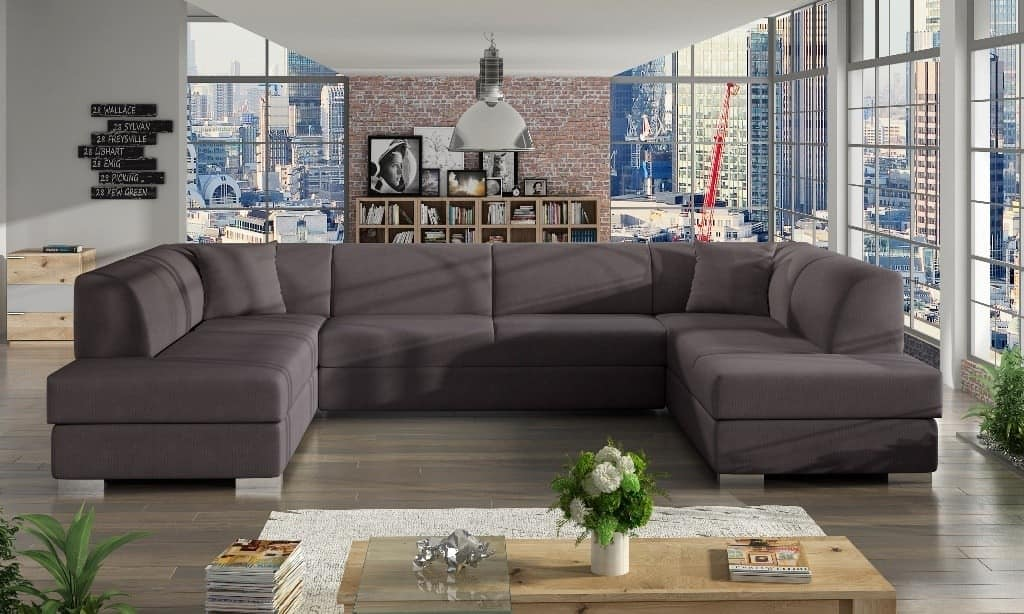 Darco brun U-sofa s et forfra