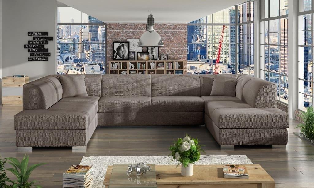 Darco beige U-sofa s et forfra