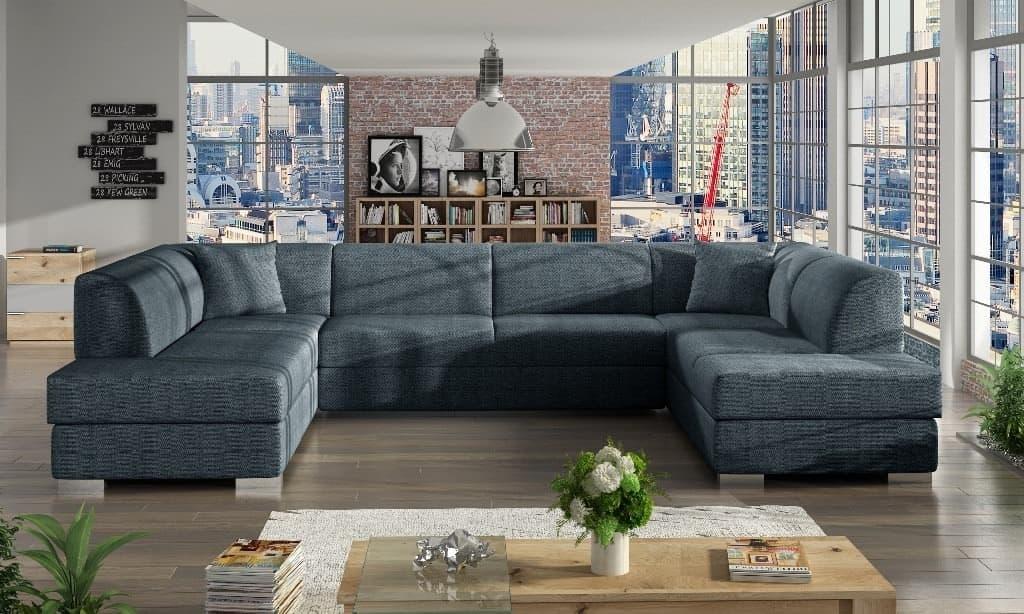 Darco graphite U-sofa s et forfra