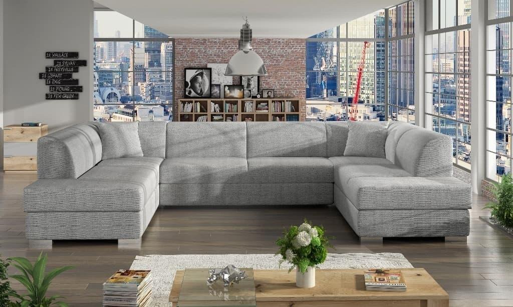 Darco hvid U-sofa s et forfra