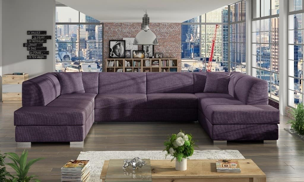Darco violet U-sofa s et forfra