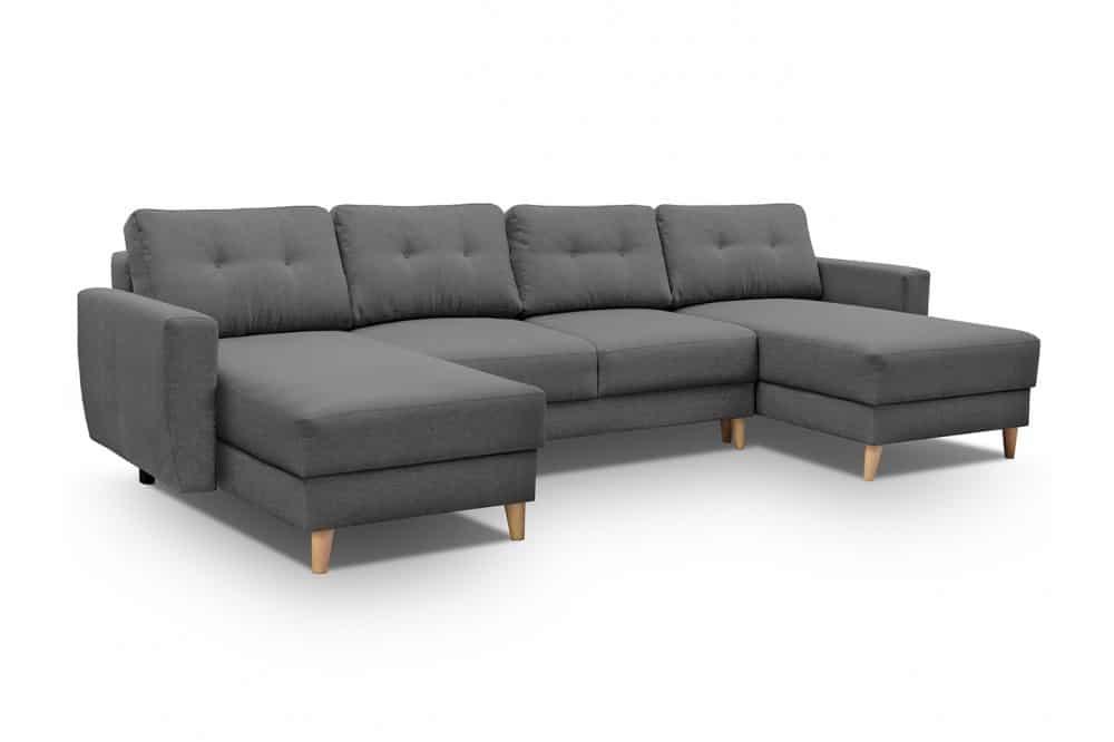 Mørkegrå u sofa Larvik set forfra