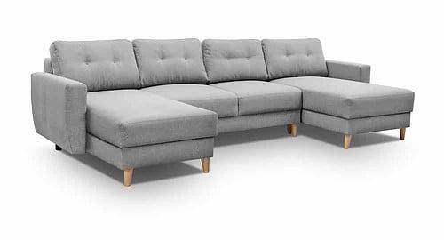 Lysegrå u sofa Larvik set forfra