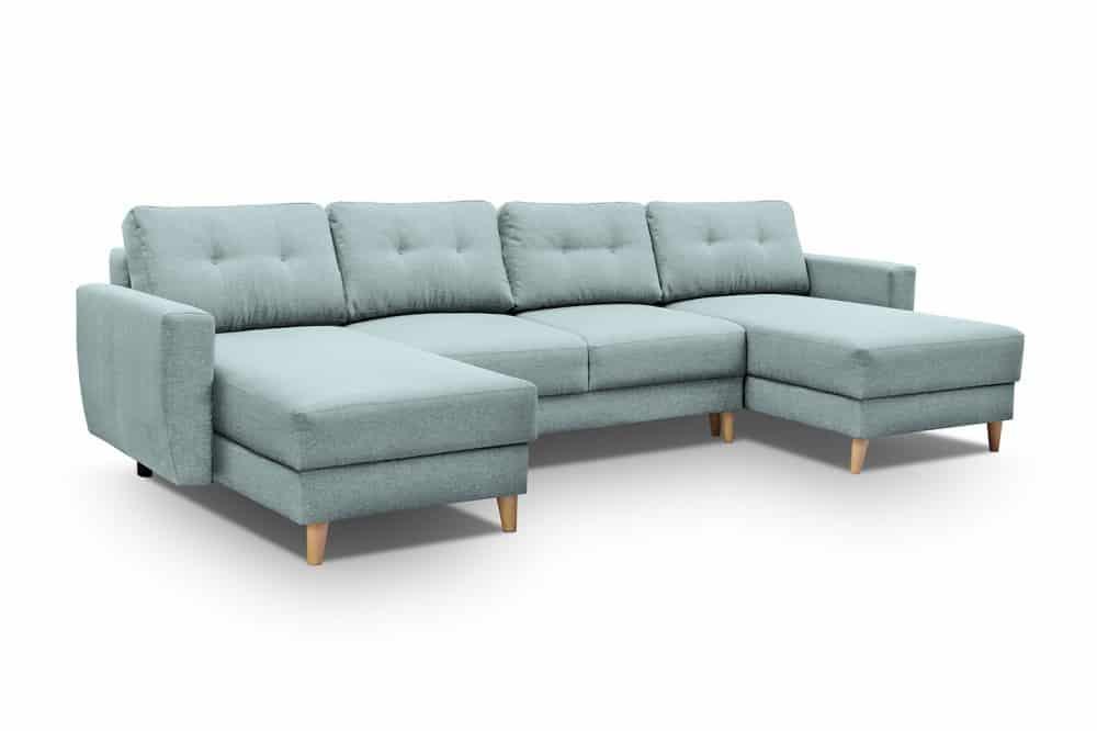 Pastel blå u sofa larvik set forfra