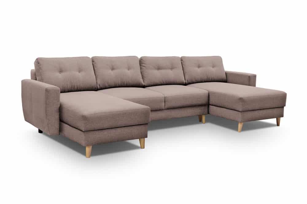Beige u sofa Larvik set forfra