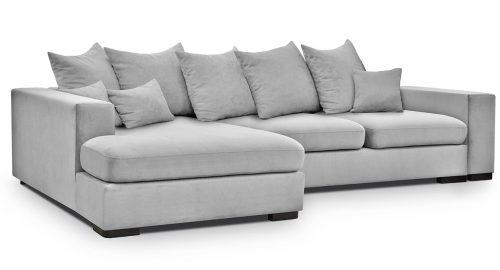 Hamilton grå sovesofa med chaiselong set forfra