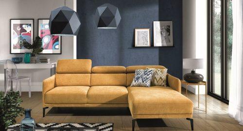 Siena chaiselong sofa set forfra placeret i en nordisk stue