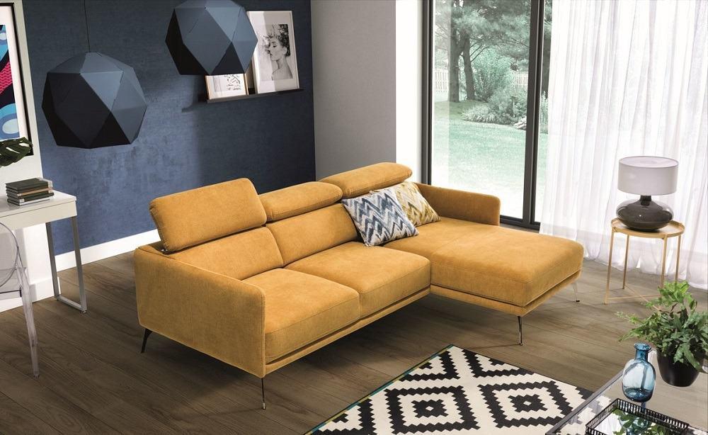Siena chaiselong sofa set fre siden i en moderne skandinavisk stue