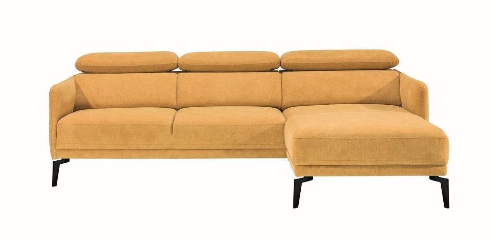 Siena chaiselong sofa set forfra på en hvid baggrund