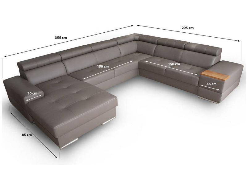 Ashley new u sofa - billedet med mål