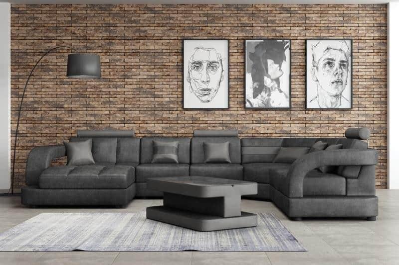 Douglas u sofa i grå set forfra