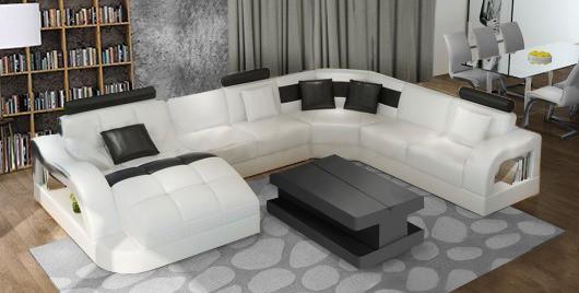 Douglas u sofa i hvid farve set forfra