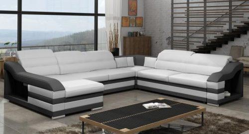 Hummingbird u sofa i sort og hvid farve set forfra