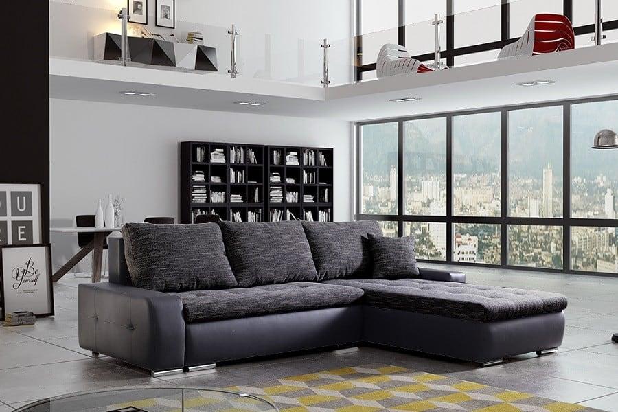 Panorama   i sort og grå farve set forfra